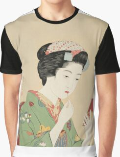 Vintage famous art - Hashiguchi Goyo -  Woman with rouge brush Graphic T-Shirt