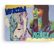 Ariel and Medusa Metal Print