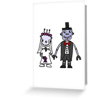 Cool Funky Robot Wedding Greeting Card