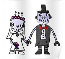Cool Funky Robot Wedding Poster