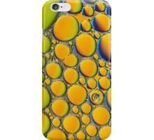 Orange, green and blue  bubble background. iPhone Case/Skin