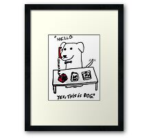 this is dog 2 Framed Print