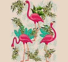 Pink Flamingos Exotic Birds Unisex T-Shirt