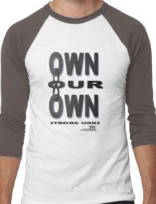 Positive Pro-BLACK: OWNING IT Men's Baseball ¾ T-Shirt