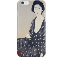 Vintage famous art - Hashiguchi Goyo - Woman In A Summer Garment 1920 iPhone Case/Skin