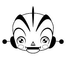 Space Robot (black & white head)  Photographic Print