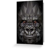 Polygon Gorilla Greeting Card