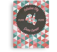 Celadon Game Corner Canvas Print