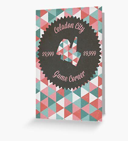 Celadon Game Corner Greeting Card