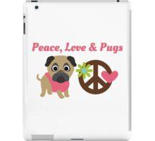 Peace Love and Pugs iPad Case/Skin