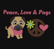 Peace Love and Pugs Baby Tee