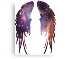 Angel Pink Galaxy Wings Canvas Print