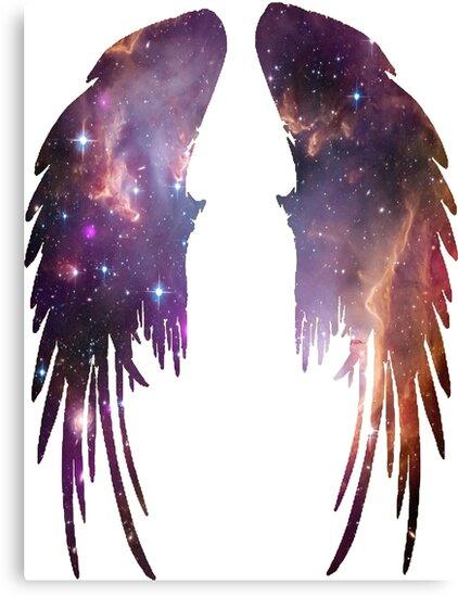 Angel Pink Galaxy Wings by iSharnie