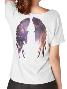 Angel Pink Galaxy Wings Women's Relaxed Fit T-Shirt