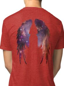 Angel Pink Galaxy Wings Tri-blend T-Shirt