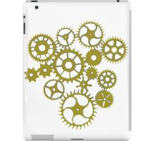 Steampunk Gold Cogs iPad Case/Skin