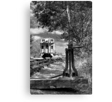 The Switch And The Caboose Canvas Print