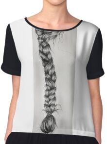 braid Chiffon Top