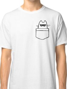 Cool Cat in Pocket Classic T-Shirt