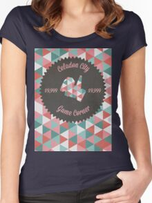 Celadon Game Corner Women's Fitted Scoop T-Shirt