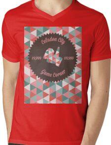 Celadon Game Corner Mens V-Neck T-Shirt