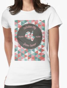Celadon Game Corner Womens Fitted T-Shirt