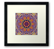 Eleventh Mandala Of Life For A Rosy Spring Framed Print