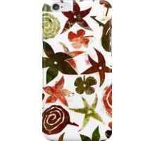 Red Pochoir Floral iPhone Case/Skin