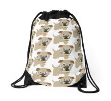 Gay Pride Pug Puppy Drawstring Bag