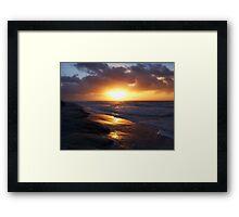 Sunrise Over Atlantic Ocean Framed Print