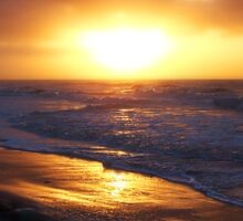 Sunrise Over Atlantic Ocean Sticker