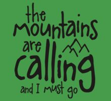The mountains are calling Baby Tee