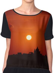 Sunrise Over Small Town Chiffon Top