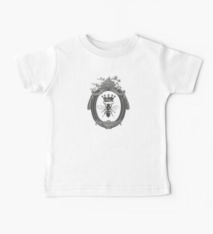 Queen Bee | Black, White and Grey  Baby Tee