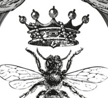 Queen Bee | Black, White & Grey  Sticker