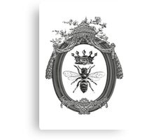 Queen Bee | Black, White & Grey  Canvas Print