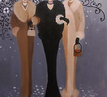 VINTAGE LADIES OUT ON THE TOWN by Dian Bernardo