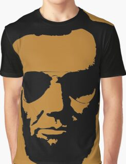 Cool Abe Lincoln with Aviator Sunglasses - Black Graphic T-Shirt