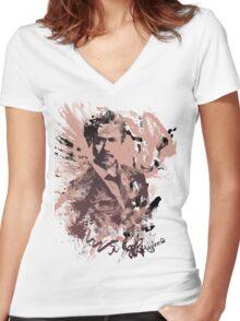 RDJ Women's Fitted V-Neck T-Shirt