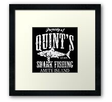 Retro Quint's Shark Fishing Framed Print
