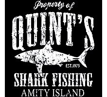 Retro Quint's Shark Fishing Photographic Print