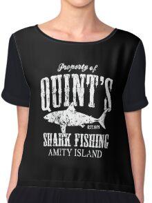 Retro Quint's Shark Fishing Chiffon Top