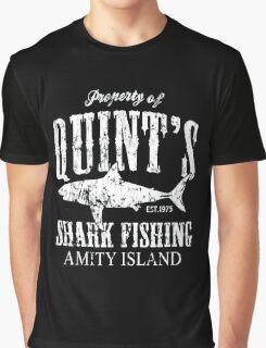 Retro Quint's Shark Fishing Graphic T-Shirt