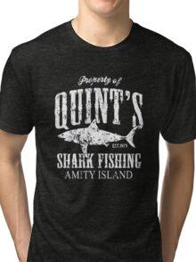 Retro Quint's Shark Fishing Tri-blend T-Shirt