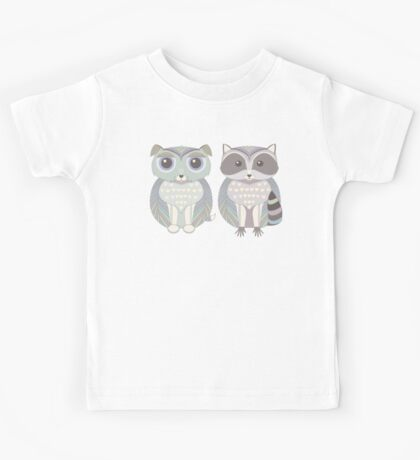 Dog Blue and Raccoon Kids Tee