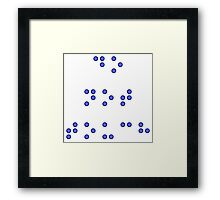 Do Not Touch in Braille in Blue Framed Print