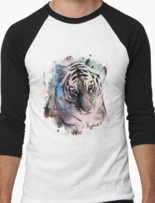 Painted Tiger  Men's Baseball ¾ T-Shirt