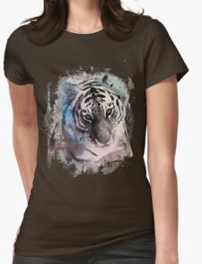 Painted Tiger  Womens Fitted T-Shirt