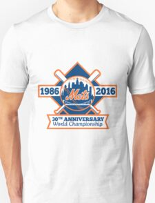 NEW YORK METS 30TH ANNIVERSARY WORLD CHAMPIONSHIP Unisex T-Shirt