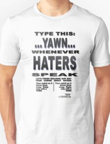 Positive Pro-BLACK: Smack A YAWN on HATERS Unisex T-Shirt